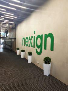 Интерьерная вывеска для Nexign