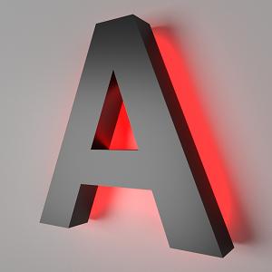 объемная буква с контражурной подсветкой