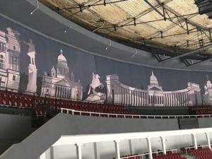 баннер, баннер в юбилейном, баннер в спортивном комплексе, интерьерный баннер