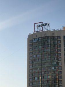 """крышная установка SetlCity в ЖК """"Greenландия"""""""