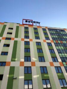 """установка на крыше для компании SetlCity в ЖК """"Семь столиц"""""""