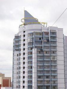 """крышная установка для компании """"Строительный трест"""""""