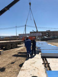 монтаж крышной установки для компании
