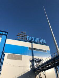"""монтаж крышной установки для компании """"Газпром"""""""