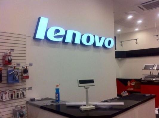 Интерьерная вывеска для магазина Lenovo