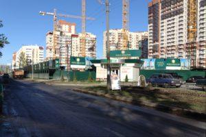 оформление строившегося жилого комплекса