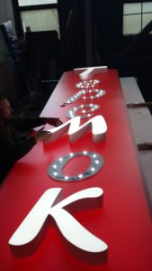 изготовление светового короба для