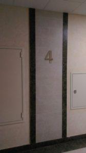 цифра на этаже в жилом доме The Residence