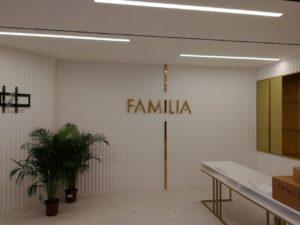 вывеска в офисе продаж ЖК Familia