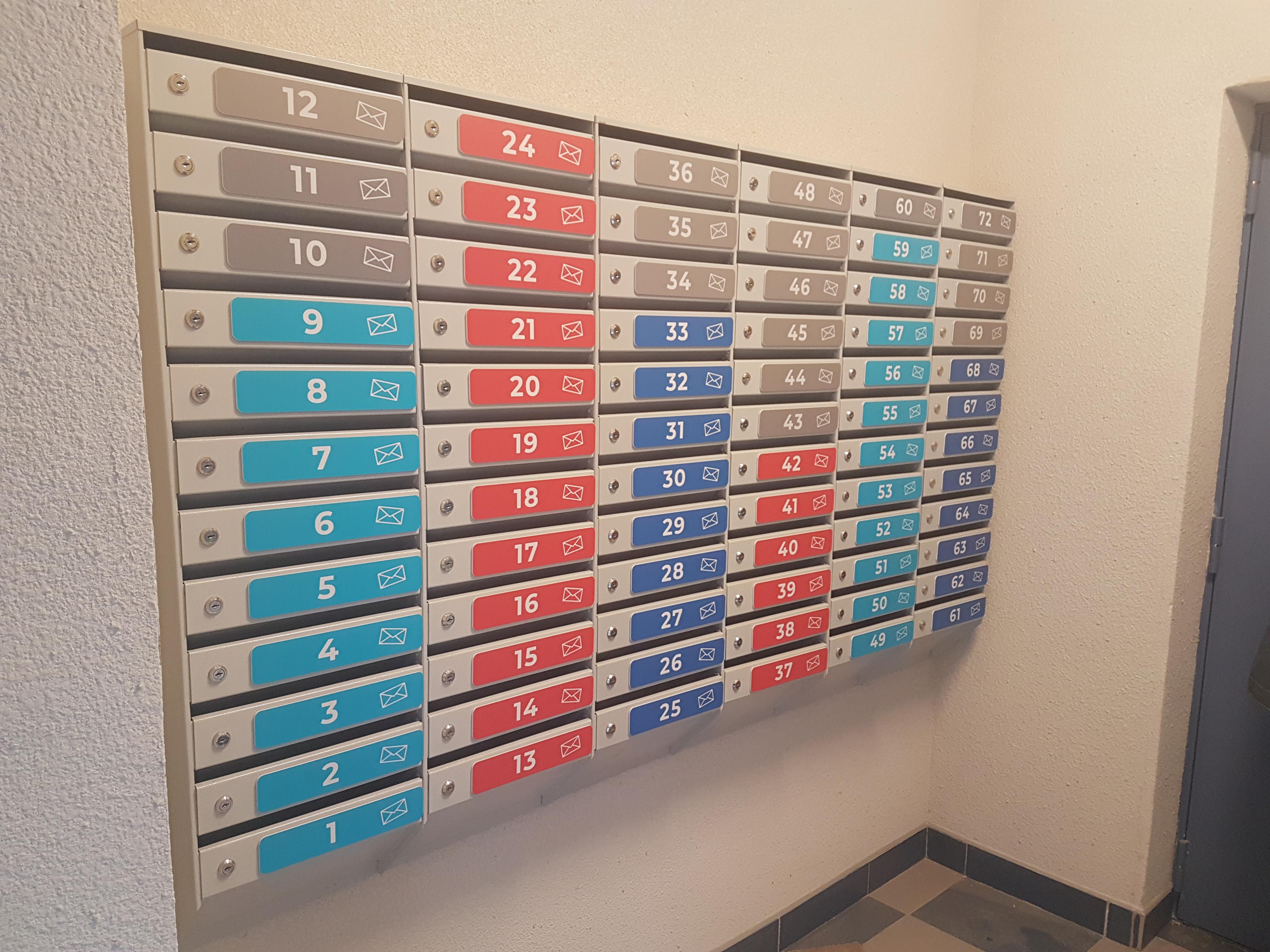 номера на почтовых ящиках в ЖК 'Высота'