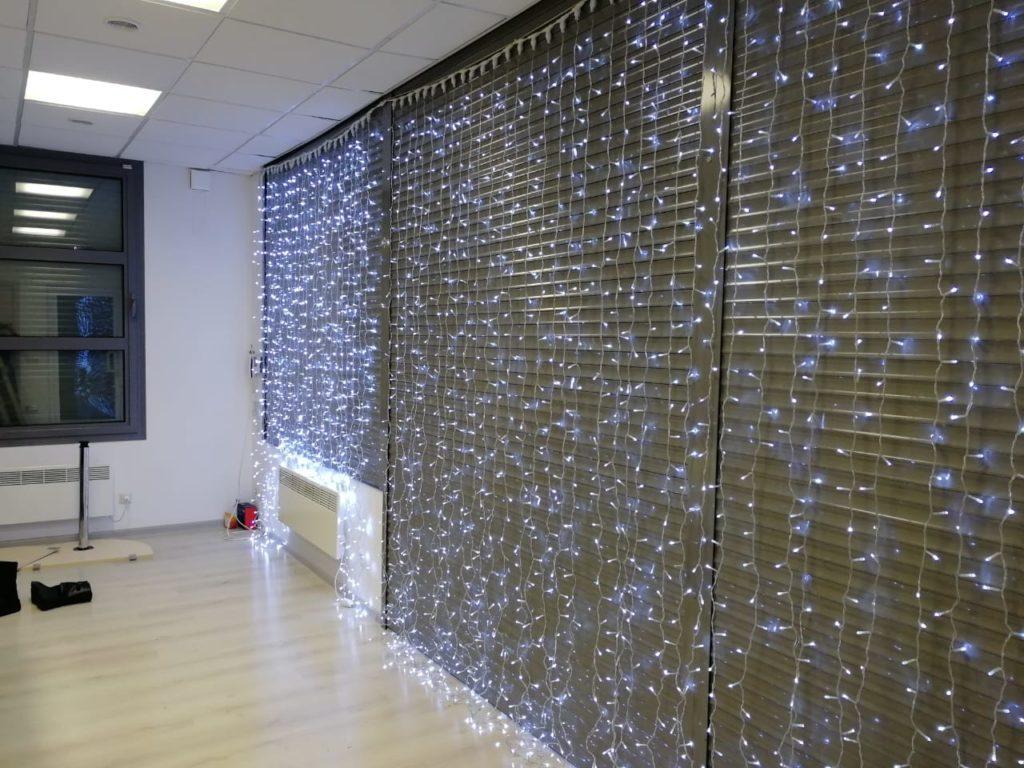 новогоднее оформление офиса ЖК Эсмеральд для Setl City