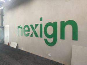 Рекламная вывеска в офисе компании Nexign