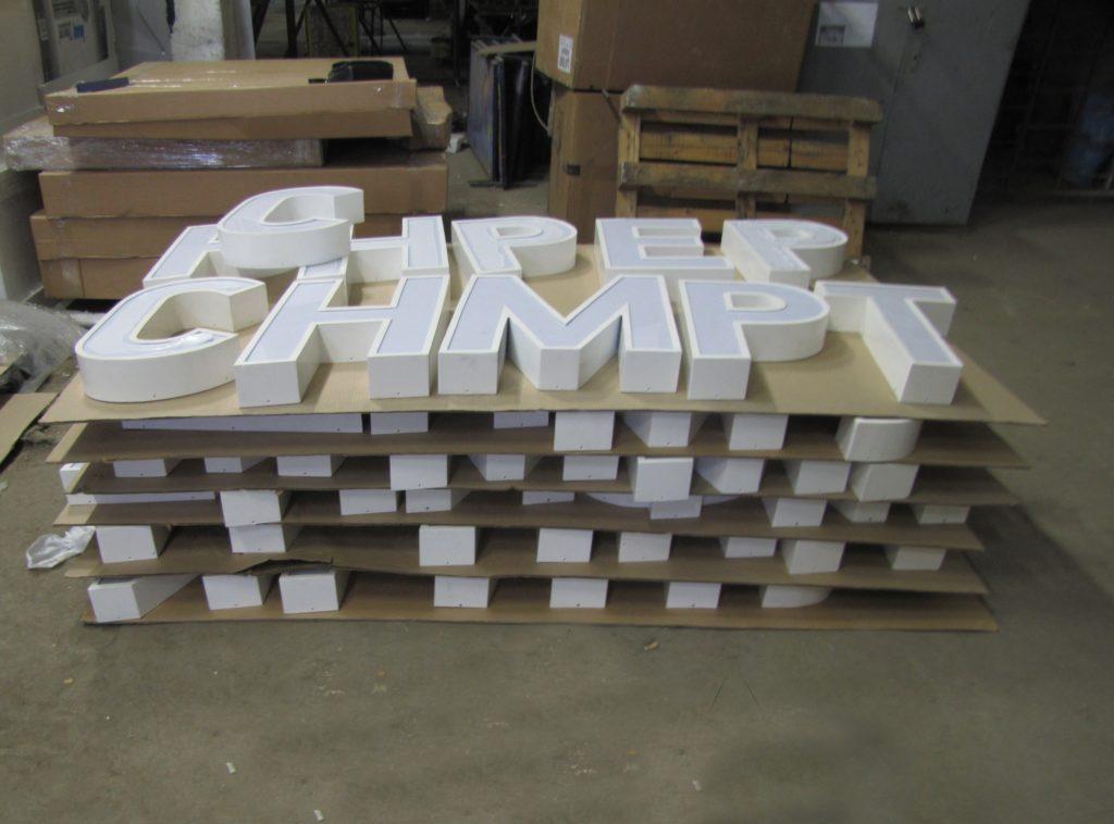 производство букв для стелы 'Мурманск'