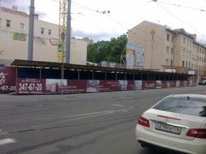 Оформление строительной галереи для жилого комплекса