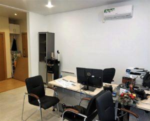 Модульный зимний офис продаж ЖК ZOOM Apart (Зум Апарт) интерьер