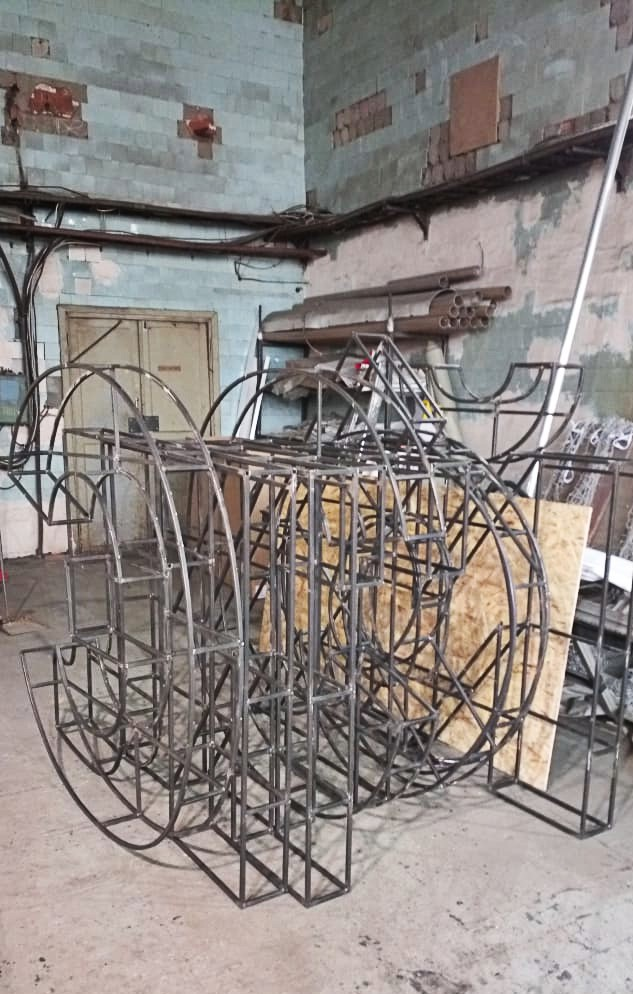 Крышная установка ЭлитСтрой Материалы, сварной стальной каркас