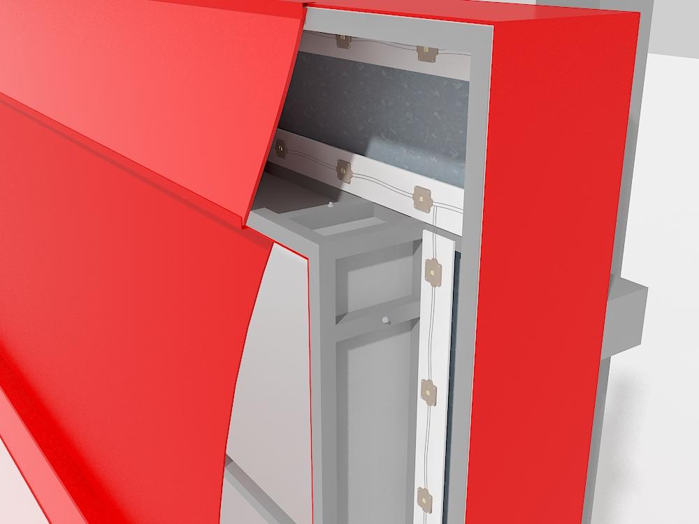 Крышная установка ЭлитСтрой Материалы, дизайн-макет, светодиоды