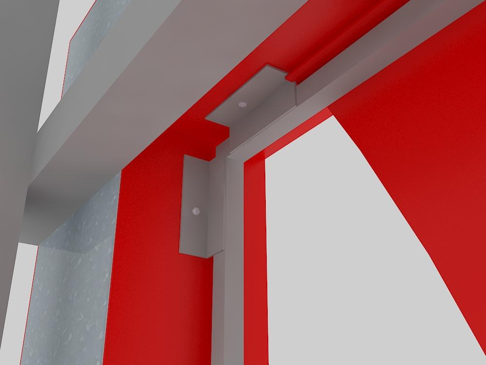 Крышная установка ЭлитСтрой Материалы, дизайн-макет, крепление